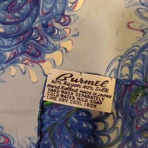 Burmel Accessories - VINTAGE BURMEL Silk Blend Scarf